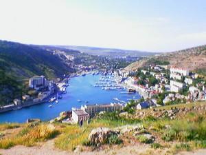 Вид на Балаклаву с крепости Чембало